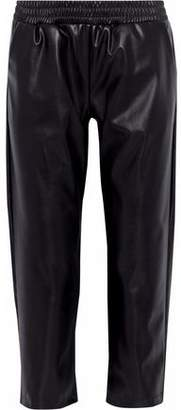 Cushnie et Ochs Cropped Faux Leather Straight-Leg Pants