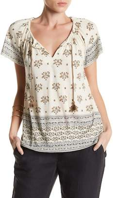 Lucky Brand Border Print Blouse