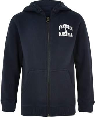 River Island Boys Franklin & Marshall navy hoodie