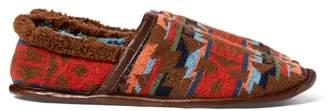 Ralph Lauren Fleece-Leather Slipper