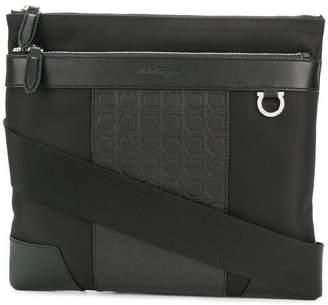 Salvatore Ferragamo leather trim crossbody bag