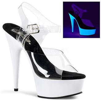 Pleaser USA Women's Delight-608UV/C/NW Platform Sandal
