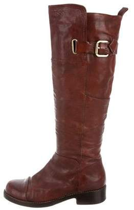 Belle by Sigerson Morrison Leather Round-Toe Boots