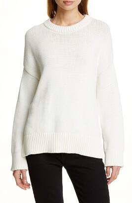 Jenni Kayne Chunky Crewneck Cotton Blend Sweater