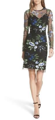 Diane von Furstenberg Embroidered Overlay Dress
