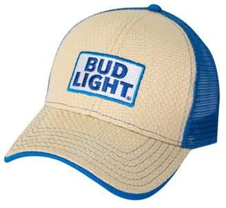 7c584fa9a Men's Bud Light Paper Straw Adjustable Baseball Cap