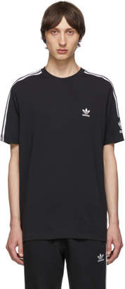 adidas Black and White Lock Up Logo T-Shirt