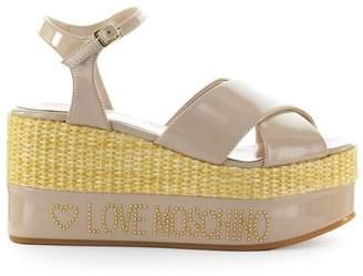 Love Moschino Soft Pink Wedge Sandal