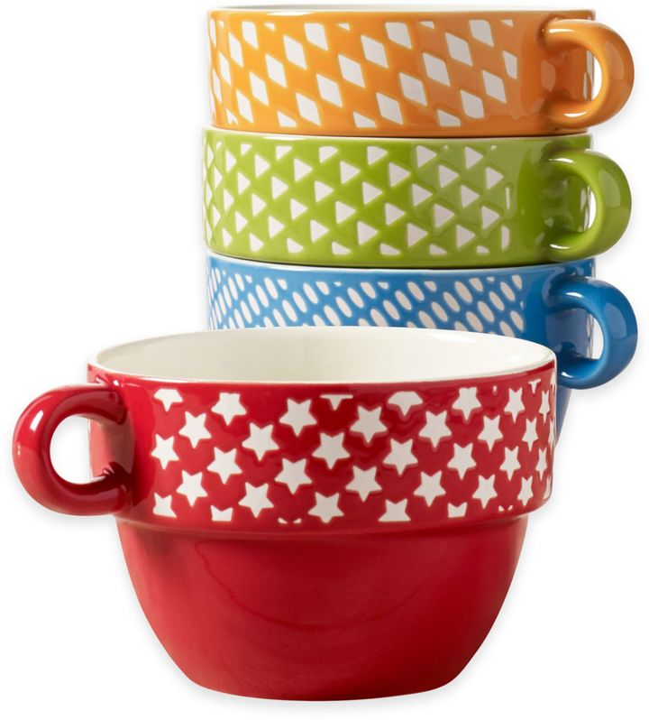 Tabletops Gallery® Roxanne Stacking Mugs (Set of 4)