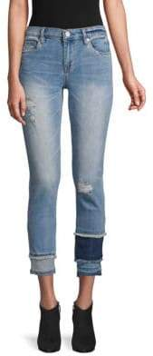 533cf6b706d19 Blank NYC Distressed Colorblock Skinny Jeans