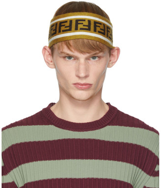 Fendi Black and Brown Wool Forever Head Band