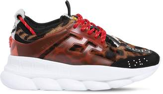 Versace Chain Reaction Ponyskin Sneakers