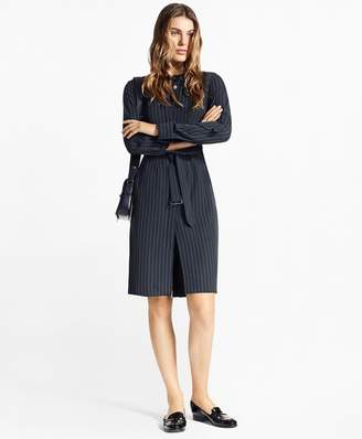 Brooks Brothers Petite Pinstripe Trench Dress