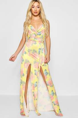 boohoo Twist Front Strappy Maxi Dress