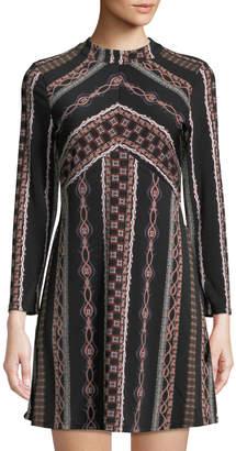 Free People Stella Pattern-Striped Mini Dress