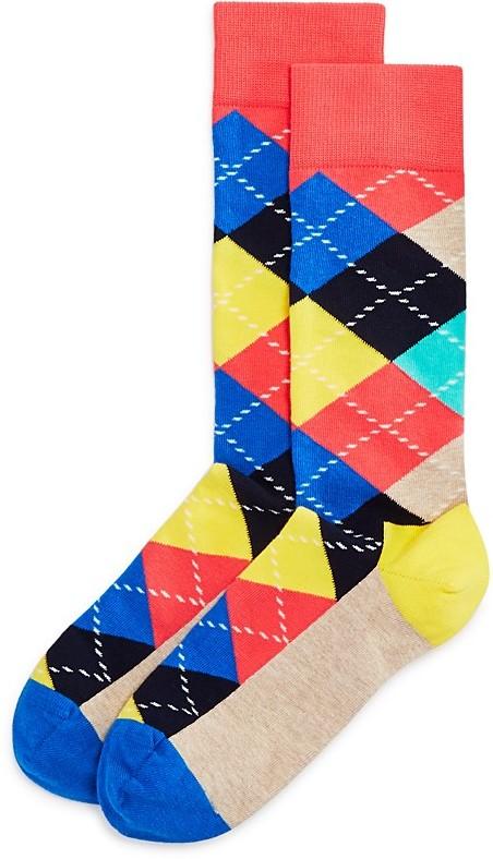 Happy Socks Men's Argyle Dress Socks