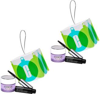 Clinique Beauty Bauble Set of 2 OrnamentGift Sets