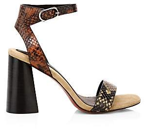 Joie Women's Odeum Snakeskin-Embossed Ankle-Strap Sandals