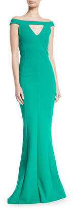 Chiara Boni Delina Cutout Mermaid Gown