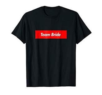Team Bride Red Box Logo Funny T-Shirt
