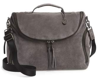 John Varvatos Brooklyn Suede Messenger Bag