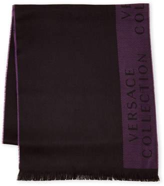 Versace Fringe Scarf