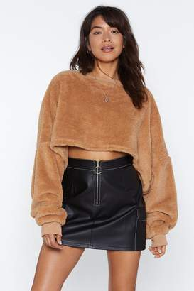 Nasty Gal Real Cool Faux Fur Sweater