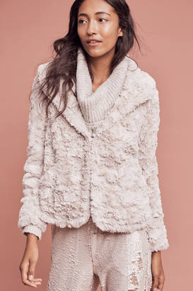 Tiny Editions For Anthropologie Glacie Faux-Fur Jacket $178 thestylecure.com
