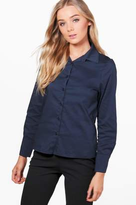 boohoo Fitted Cotton Shirt