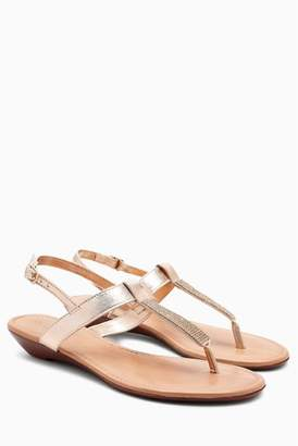 Next Womens White Forever Comfort Mini Wedge Sandals