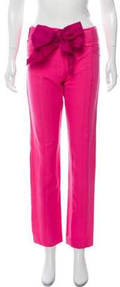 Rodarte Wool & Silk Mid-Rise Straight-Leg Pants w/ Tags