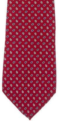 Christian Dior Paisley Print Silk Tie