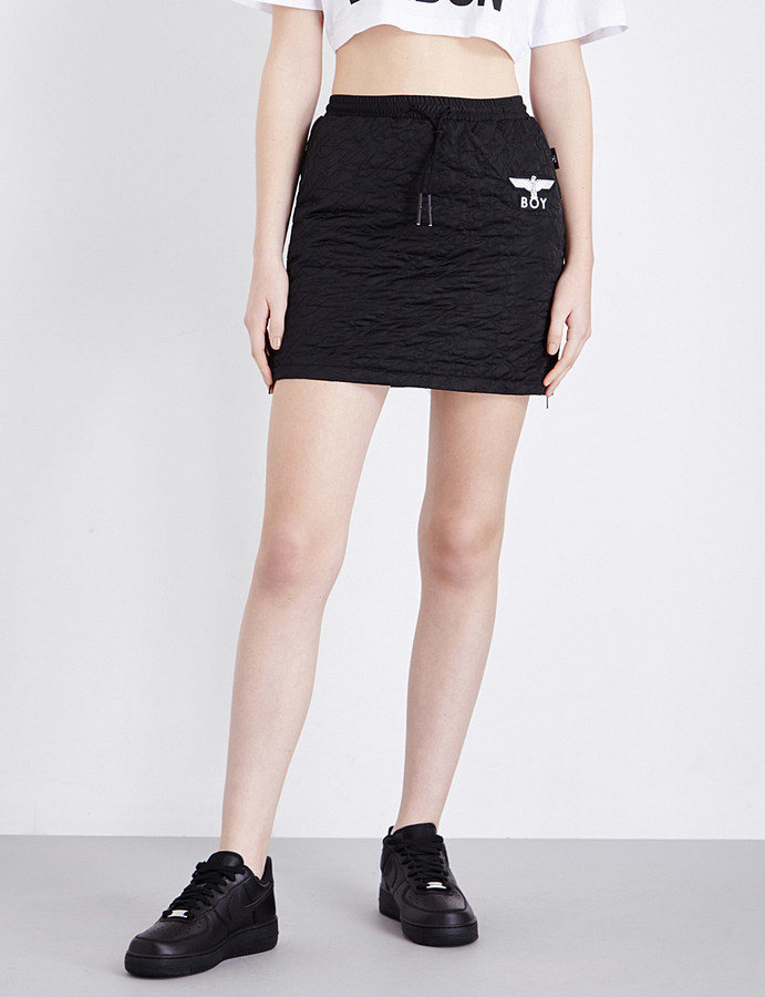 Boy LondonBoy London Drawstring quilted mini skirt