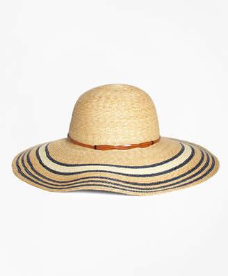 Brooks Brothers Striped Straw Sun Hat