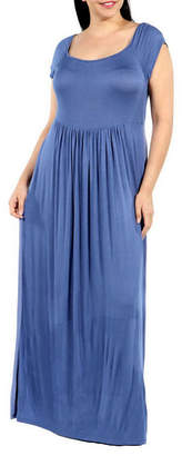 24/7 Comfort Apparel Drink Of Water Maxi Dress-Plus