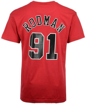 Mitchell & Ness Men Dennis Rodman Chicago Bulls Hardwood Classic Player T-Shirt
