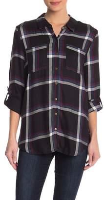 Love, Fire Plaid Button Down Shirt
