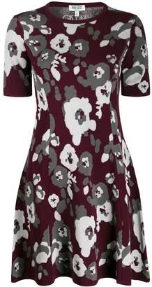 Kenzo A-line peonies print dress