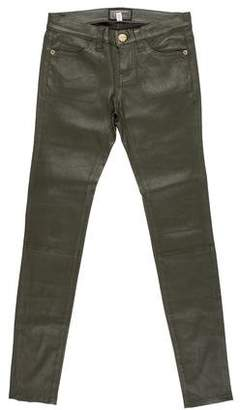 Current/Elliott Low-Rise Leather Pants