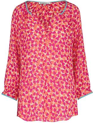 Libelula Liz Top Pink & Orange Hearty Print