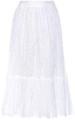 Valentino Lace cotton-blend skirt