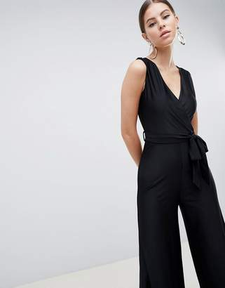 AX Paris Wide Leg V Neck Jumpsuit