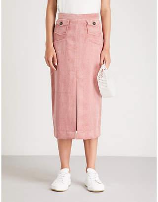 ALEXACHUNG Pocket-detail corduroy pencil skirt