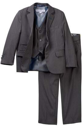 English Laundry 3-Piece Pinstripe Print Suit (Toddler Boys)