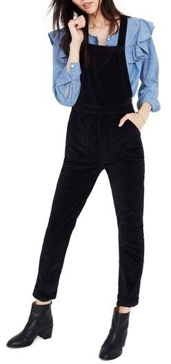 Women's Madewell Velvet Overalls