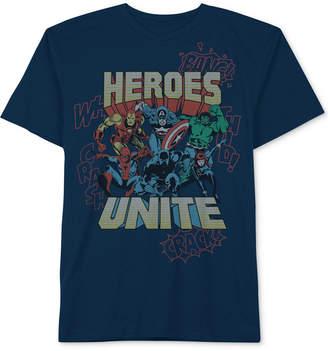Marvel Little Boys Heroes Unite Graphic Cotton T-Shirt