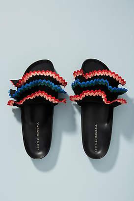 Loeffler Randall Olive Ruffle Slide Sandals
