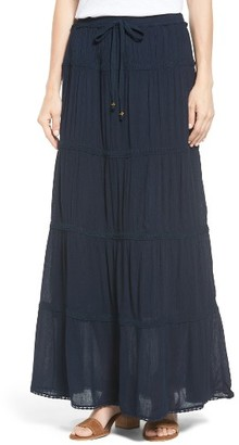 Women's Bobeau Tiered Maxi Skirt $59 thestylecure.com