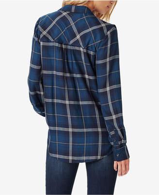 Jessica Simpson Juniors' Ruffled Plaid Shirt