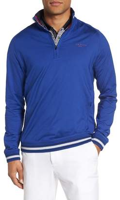 Ted Baker Trim Fit Quarter Zip Golf Pullover